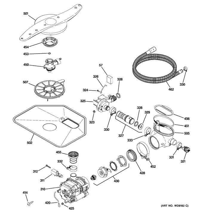 Diagram for PDW8900N00BB