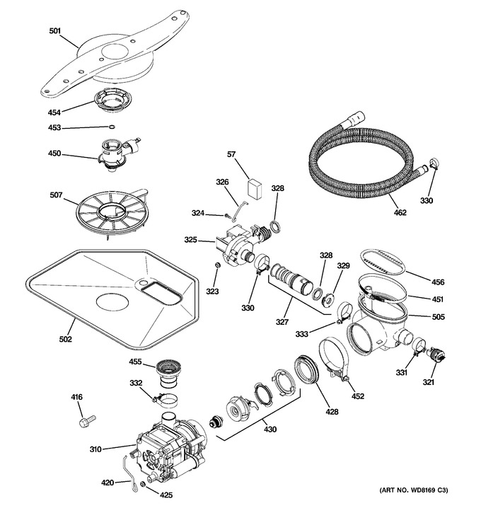 Diagram for PDW8281N00SS