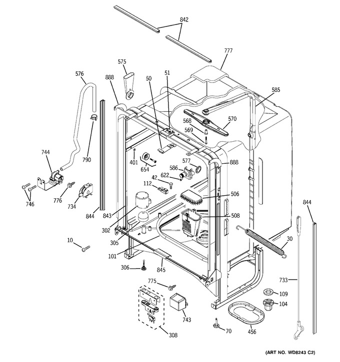 Diagram for PDW7980N15SS