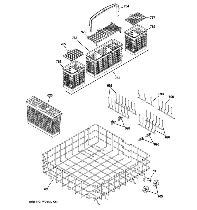 Diagram for PDW9800N20BB
