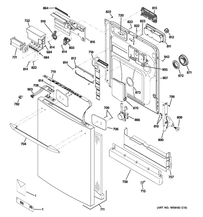 Diagram for PDW9980N20SS