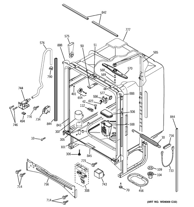 Diagram for PDW7300N25BB