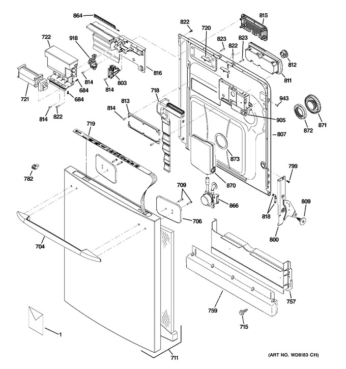 Diagram for PDW9200N00BB