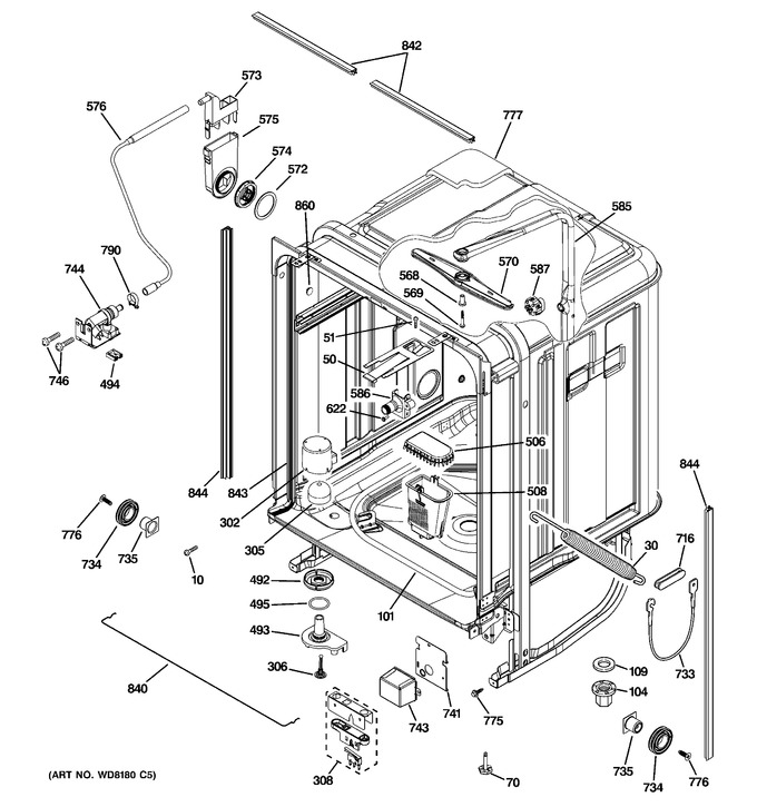Diagram for PDW9980N00SS