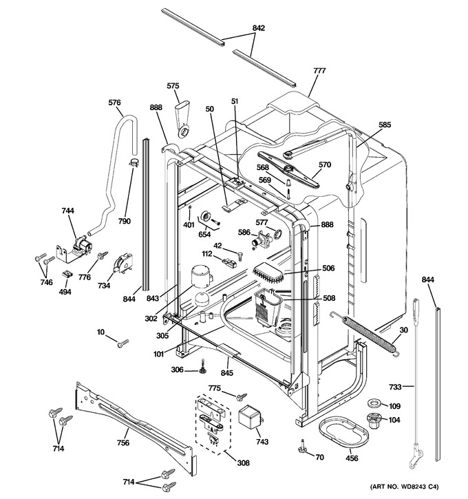 Diagram for PDW7900P00BB