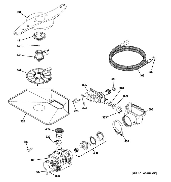 Diagram for GLD4908T10WW