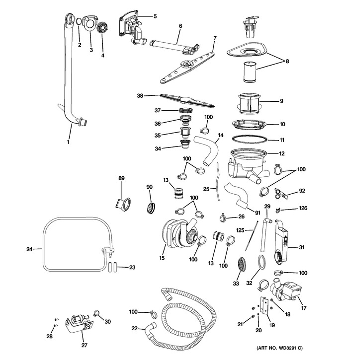 Diagram for PDW1800N00BB