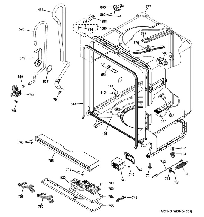 Diagram for GDF520PSF6SS