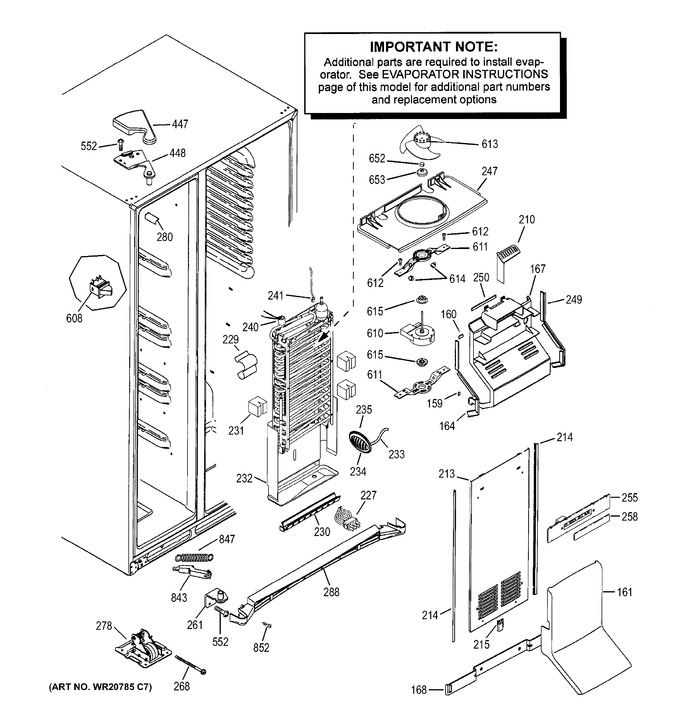 Diagram for DSE25JGHECWW