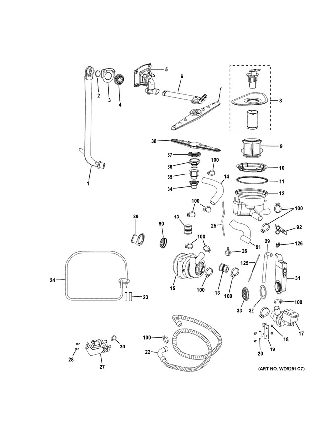 Diagram for PDW1860K01SS