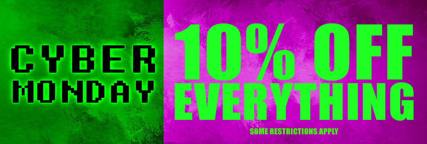 Cyber Monday Sale - 10% Off Everything