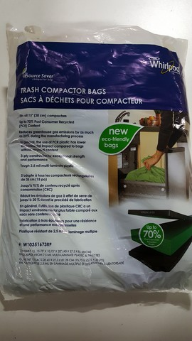 "W10351673RP W10351673RP Whirlpool ECO-FRIENDLY Compactor Bags 15PK-15"" BAG"