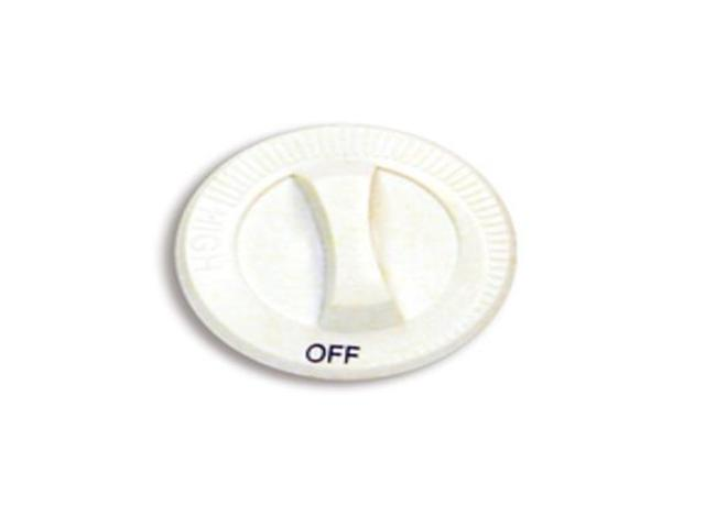 040062 040062 Cadet Manufacturing KNOB C/CT DP, WHT WITH OFF