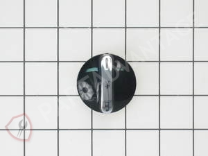 WE1X1206 GE Dryer Black Knob and Clip Assembly