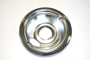 "WB31M16 GE Range / Oven / Stove 6"" Rear Chrome Drip Bowl"