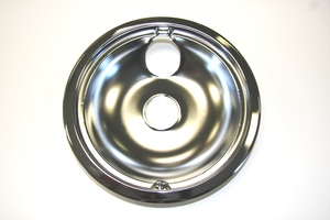 """WB32X5076 GE Range / Oven / Stove 8"""" Chrome Drip Bowl with Attached Ring"""