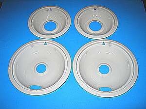 W10291024 Whirlpool Range / Oven / Stove Drip Bowl Set