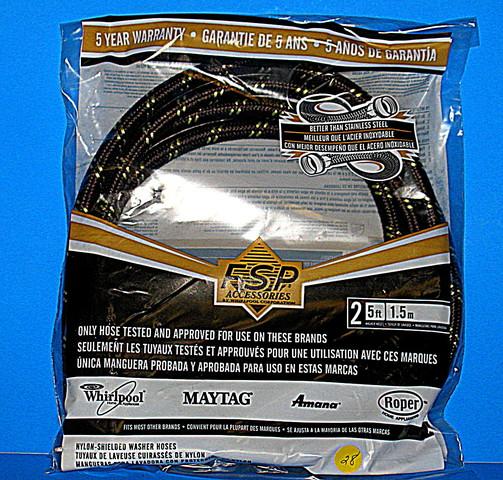 8212487RP 8212487RP Whirlpool Washer 5' Industrial Grade Fill Hose - 2 Pack